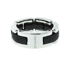 Chanel Ultra 18K White Gold and Black Ceramic Ring
