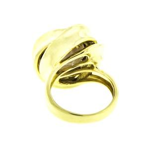 18K Yellow Gold Smokey Topaz and Diamond Cocktail Ring