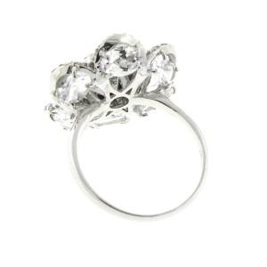 18K White Gold Hematite and Diamond Ring