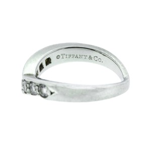Tiffany & Co. Platinum and Diamond Wave Band Ring