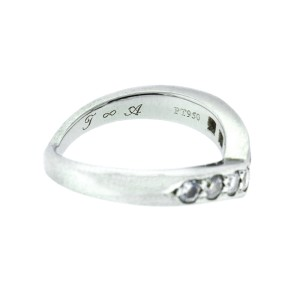 e06c79117 Tiffany & Co. Platinum and Diamond Wave Band Ring | Tiffany & Co ...