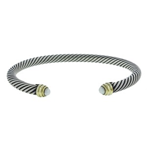 David Yurman 14K Gold Cable Classics Bracelet with Pearls