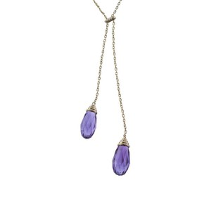 Goshwara Scala 18k Yellow Gold  Amethyst, Diamonds Necklace