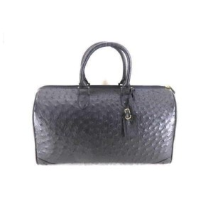 Ostrich Leather Boston Duffle 859159