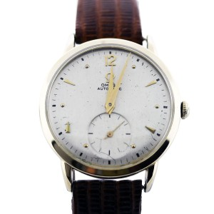 Omega 14K Yellow Gold Automatic 34mm Unisex Vintage Watch