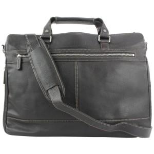 Levenger Dark Brown Leather Carrie Messenger Laptop Bag 28lev114