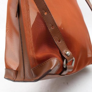 Loewe Mesh Backpack with Pouch 868549 Orange Nylon Tote