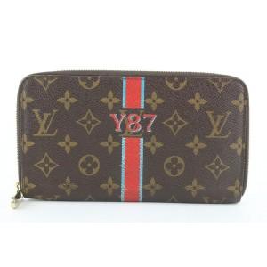 Louis Vuitton Brown Monogram Mon Zippy Organizer Wallet Zip Around Clutch 12lvs421