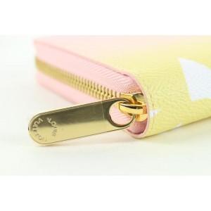 Louis Vuitton Pink x Yellow Giant Monogram By the Pool Zippy Wallet Long 143lvs430