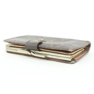 Louis Vuitton Monogram Porte Monnaie Viennois Bifold Wallet Snap Compact 14lvs113