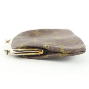 Louis Vuitton Ultra Rare Vintage 1970's Monogram Kisslock Coin Pouch Purse 158lvs430