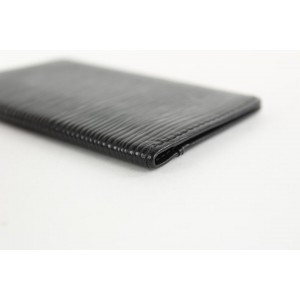 Louis Vuitton Black Epi Leather Noir Card Holder Porte Cartes Wallet 16LVS1210