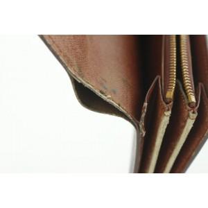 Louis Vuitton Monogram Sarah Porte Tresor Bifold Long Flap Wallet 17lvs18