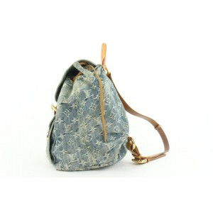 Louis Vuitton Monogram Denim Sac a Dos GM Backpack 279lvs512