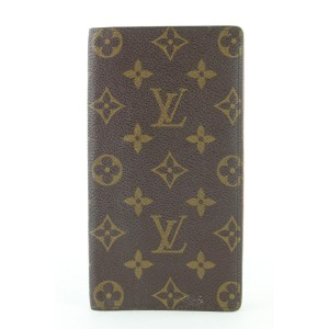 Louis Vuitton Monogram Long Card Holder Bifold Wallet 316lvs517