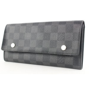 Louis Vuitton Black Damier Graphite Modulable Long Wallet 524lvs38