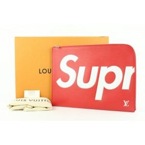 Louis Vuitton Supreme Red Epi Leather Pochette Jour GM 52lvs423