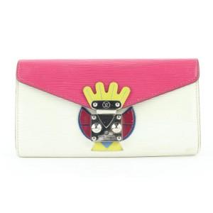 Louis Vuitton Pivoine Epi Leather Tribal Sarah Wallet Long Flap 5lvs421