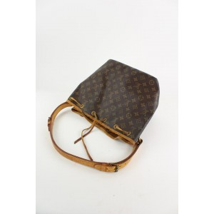 Louis Vuitton Monogram Petit Noe Drawstring Bucket Hobo Bag 9LVS1211