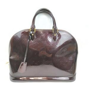 Louis Vuitton Amarante Monogram Vernis Alma GM Bowler bag 863039