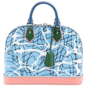 Louis Vuitton Blue Graphic SoCal Epi Leather Aqua Print Alma PM 862407