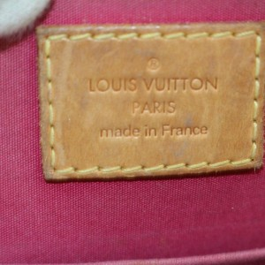 Louis Vuitton Indian Rose Monogram Vernis Alma BB with Strap 870165