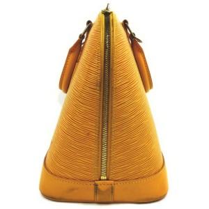 Louis Vuitton Yellow Epi Alma PM Bowler Bag  861802