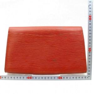 Louis Vuitton Brown Epi Leather Art Deco Envelope Clutch 867954