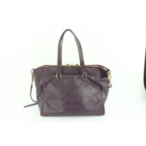 Louis Vuitton Aube Purple Monogram Empreinte Leather Lumineuse PM 2way Tote 75lvs426