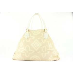 Louis Vuitton Limited Edition Beige Tahitienne Cabas GM Tote Bag 649lvs317
