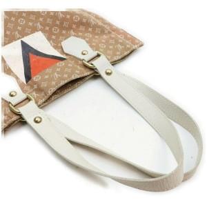 Louis Vuitton Brown Monogram Mini Lin Gaston V Tanger Tote bag 862099