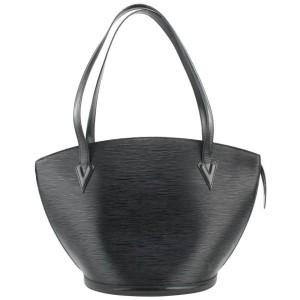 Louis Vuitton Black Epi Leather Noir Saint Jacques Zip Shopper Tote bag 768lvs331