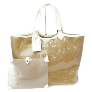 Louis Vuitton Epi Plage Clear Translucent Lagoon Bay Baia with Pouch 872928