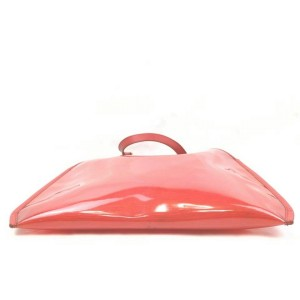 Louis Vuitton Clear Translucent Lagoon Bay Red Epi Plage Tote with Pouch 861015