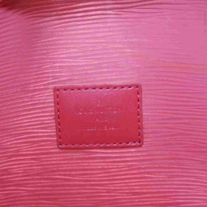 Louis Vuitton Clear Translucent Epi Plage Red Lagoon Bay with Pouch Baia 860005