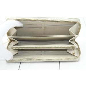 Louis Vuitton Limited Edition Blanc Corail Monogram Vernis Leopard Zippy860900