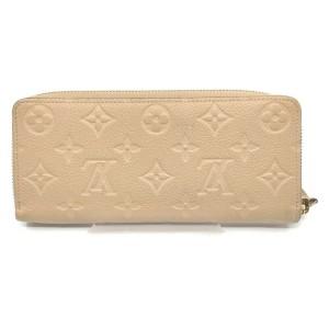 Louis Vuitton Beige Empreinte Monogram Leather Zippy Wallet Clemence 862589