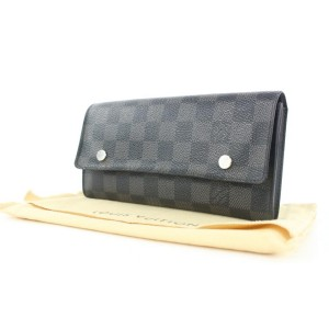 Louis Vuitton Damier Graphite Long Flap Wallet Sarah Modulable 175lvs28