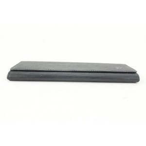 Louis Vuitton Black Porte Tresor Flap Wallet 363lvs525