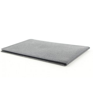 Louis Vuitton Black Leather Card Holder Wallet Case Taiga 430lv61