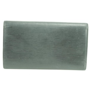 Louis Vuitton 46LK0109 Black Epi Trifold Long Flap Wallet