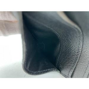 Louis Vuitton Black Damier Graphite Long card Holder Wallet case 4l520