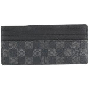 Louis Vuitton Black Damier Graphite Long Card Holder Wallet case 156lvs430