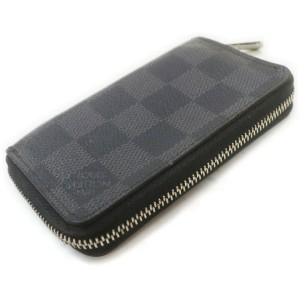 Louis Vuitton Damier Graphite Zippy Coin Wallet Zip Around Compact 861772