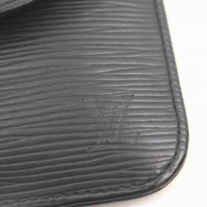 Louis Vuitton Black Epi Accessories Pouch Emilie Wallet 860366