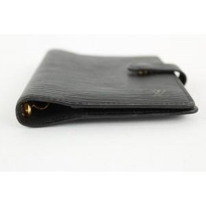 Louis Vuitton Black Epi Leather Noir Small Ring Agenda PM Diary Cover 17LVS1210