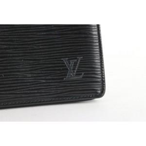 Louis Vuitton Black Epi Leather Noir Long Bifold Flap Wallet 155lvs430