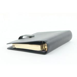 Louis Vuitton Black Epi Leather Noir Medium Ring Agenda MM Diary Cover 291lvs513