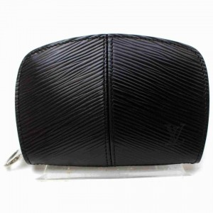 Louis Vuitton Black Epi Leather Small Demi Lune Portefeuille Coin Purse 860955