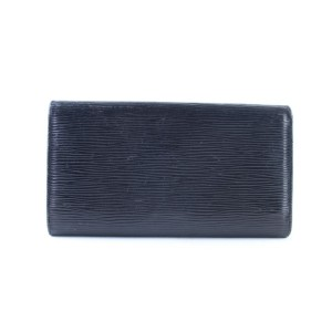 Louis Vuitton Black Sarah Epi Leather Trifold 14lr0621 Wallet